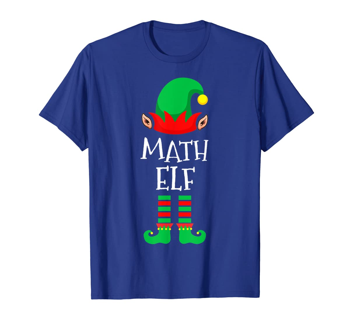 Math Elf - Funny School Teacher Christmas T-Shirt-Men's T-Shirt-Royal