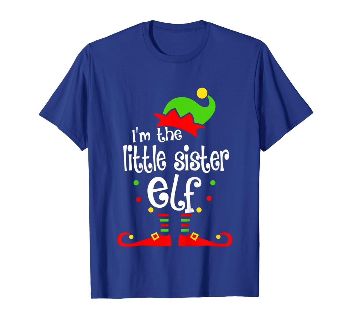 Kids Little Sister Elf Christmas Costume Outfit Xmas Gift T-Shirt-Men's T-Shirt-Royal