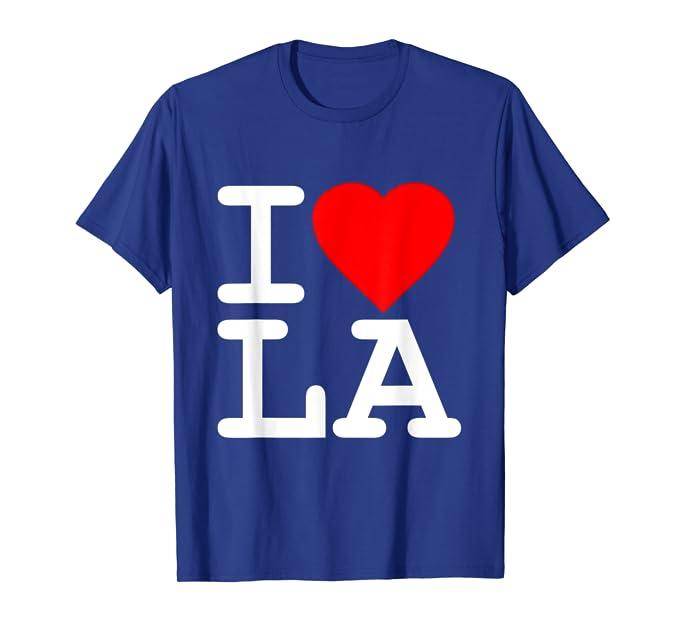 5010a2d1 Amazon.com: I Love LA Los Angeles T-Shirt: Clothing