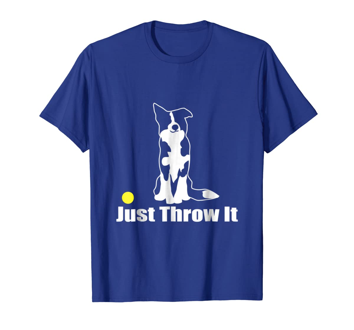 JUST THROW IT | NickerStickers Border Collie T-Shirt-Men's T-Shirt-Royal