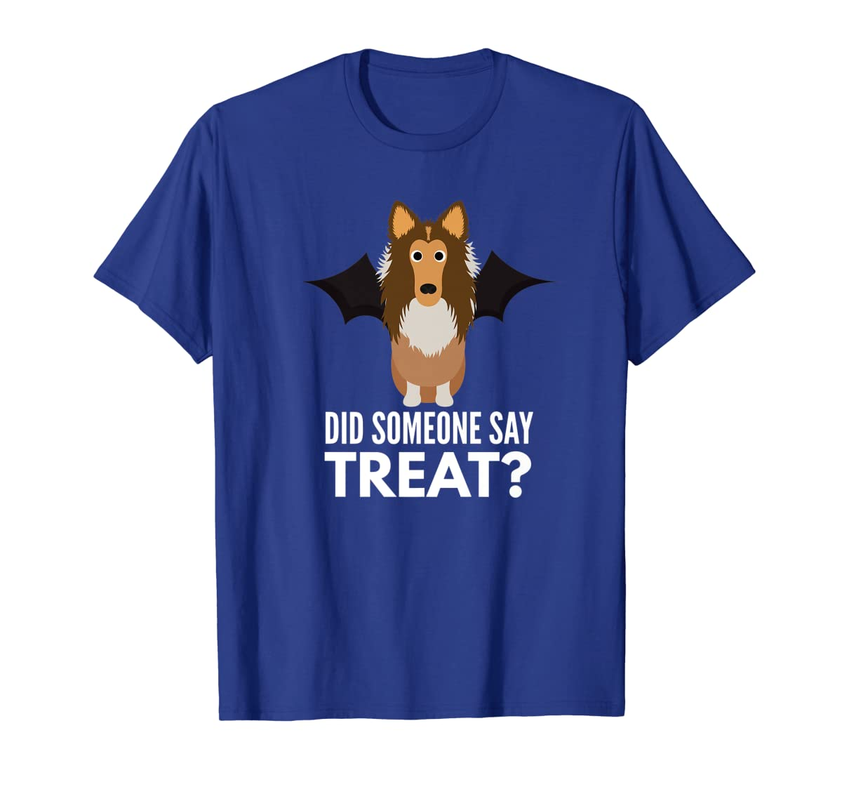 Rough Collie Halloween - Did Someone Say Treat? Premium T-Shirt-Men's T-Shirt-Royal