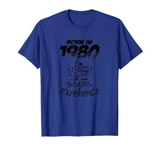 Amazon 18th Birthday Gift Shirt Born In 1980 Clothing