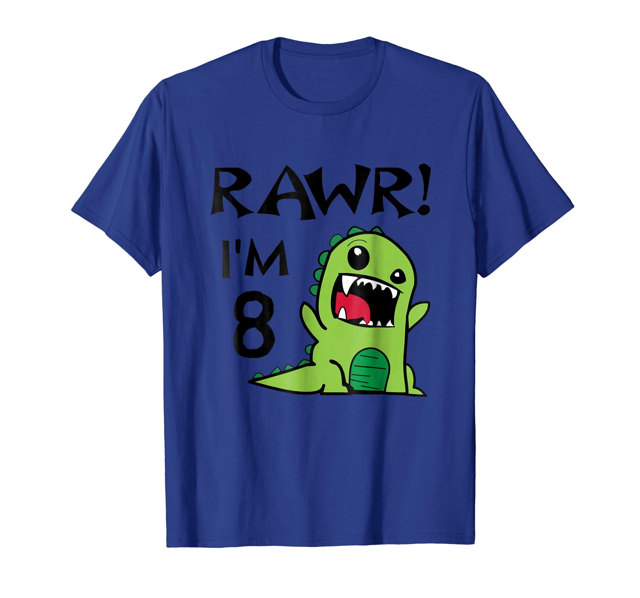 Amazon Dino 8th Birthday T Shirt