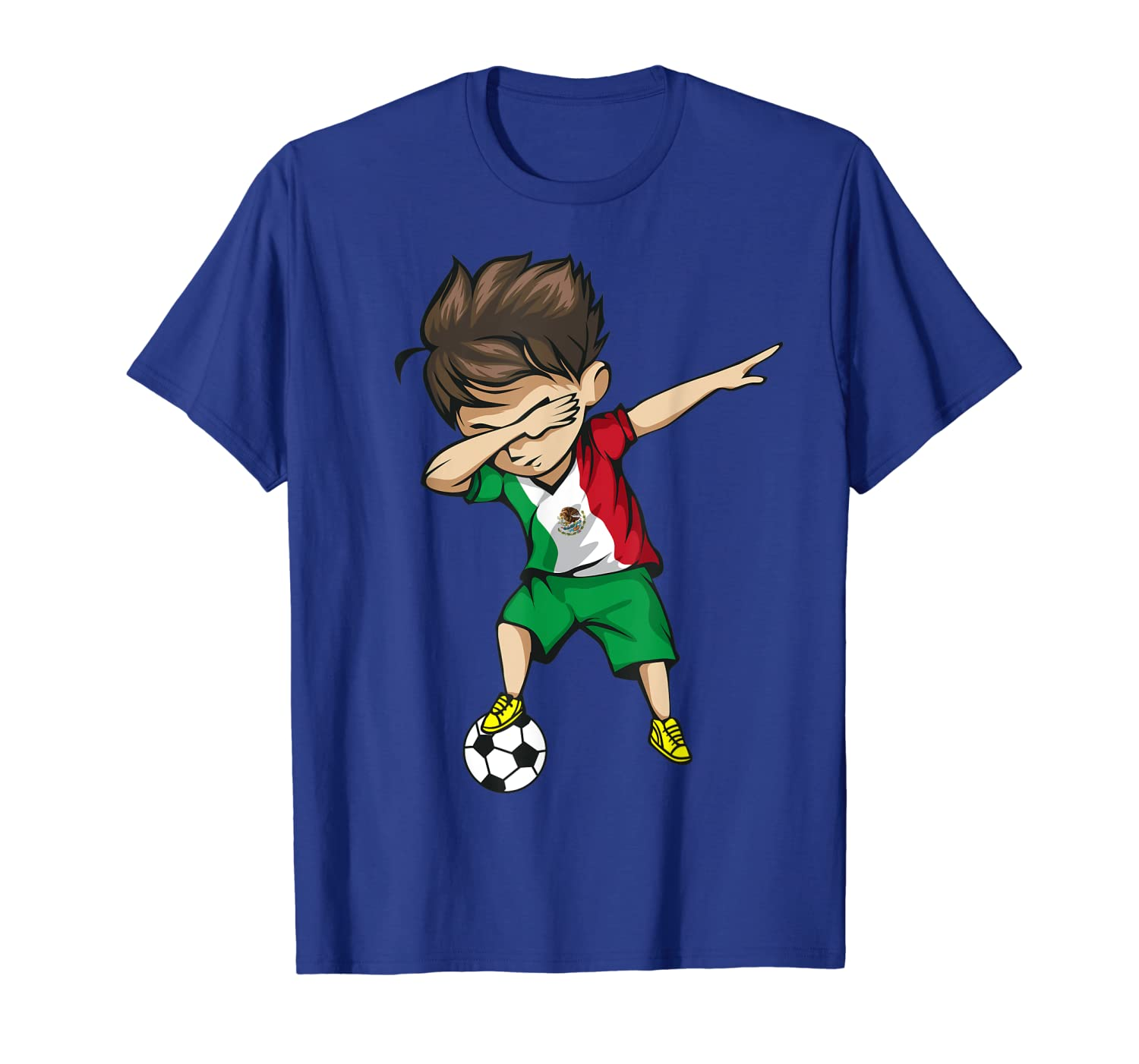 89ddff96979 Amazon.com: Dabbing Soccer Boy Mexico Jersey Shirt - Mexican Football:  Clothing