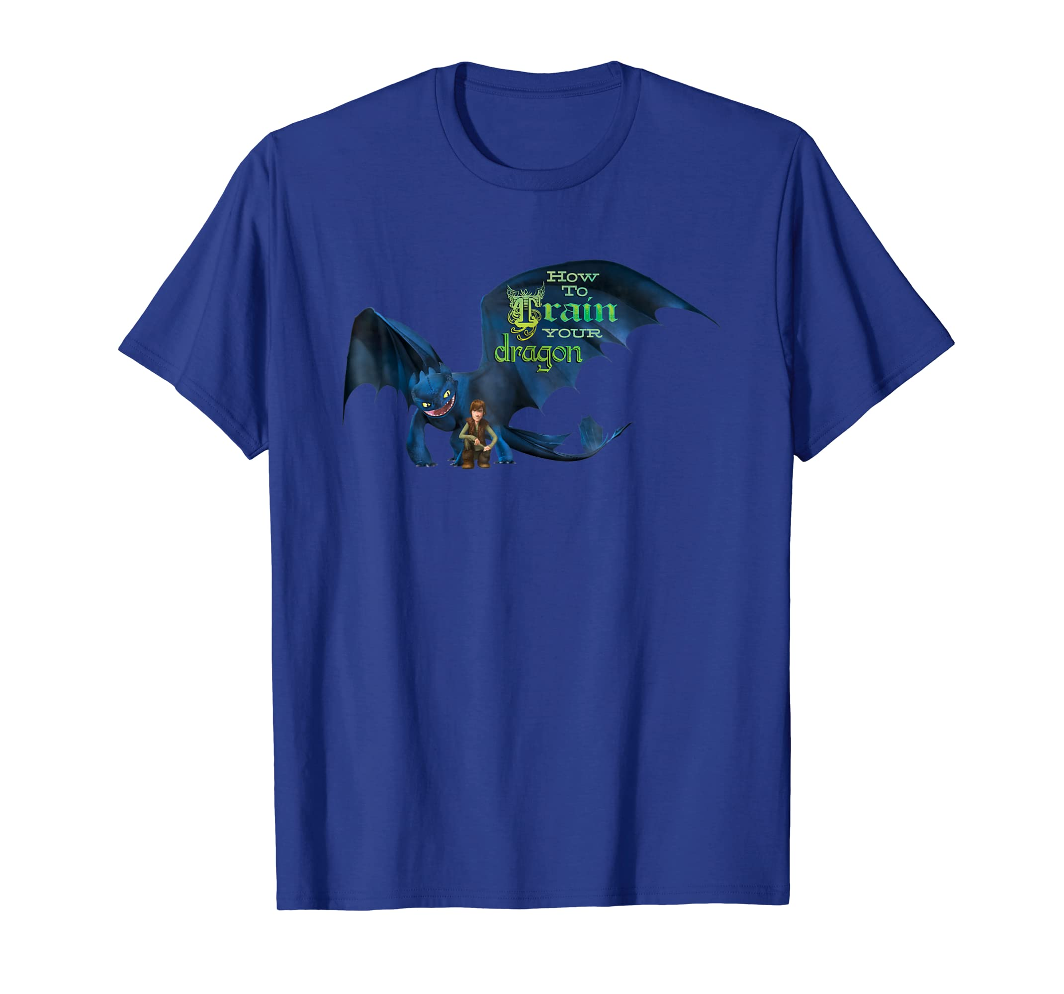 b3e86da6d Amazon.com: DreamWorks' Dragons: Toothless and Hiccup Title T-Shirt:  Clothing