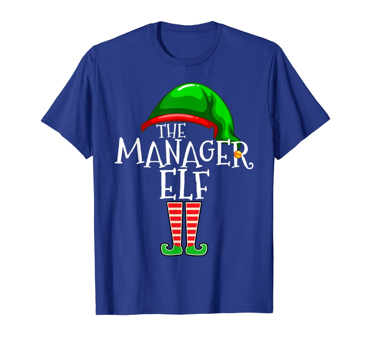 The Manager Elf Group Matching Family Christmas Gifts Boss T-Shirt-Men's T-Shirt-Royal