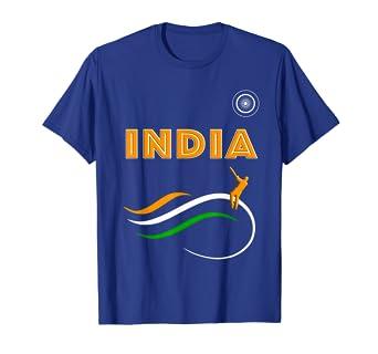 1298374f6 Amazon.com: India Cricket Team Jersey patriotic t-shirt: Clothing