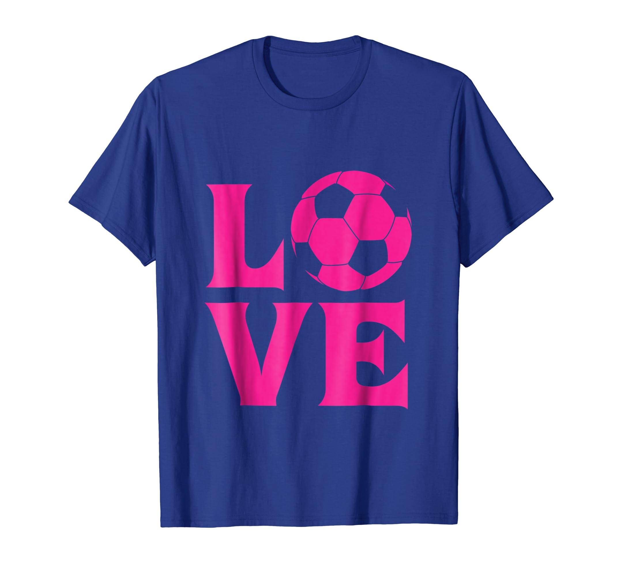 ae46add4b Amazon.com  I love soccer shirt for women