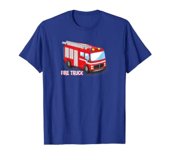 7af0ea5413e Amazon.com: Fire Truck Engine T-Shirt for Toddlers Adults and Kids: Clothing