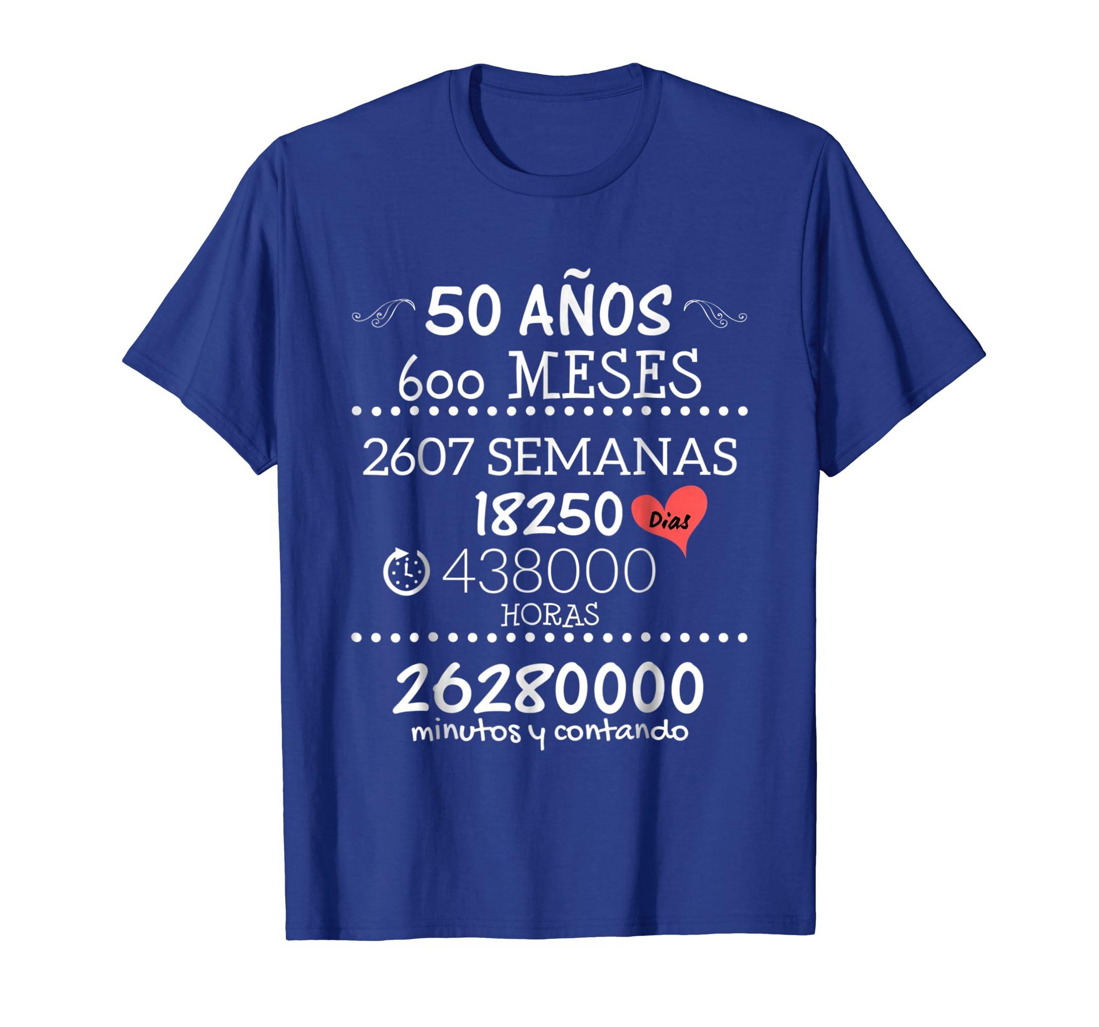 Amazon.com: Regalo de Aniversario de Bodas 50 Anos - Camiseta Bodas Oro: Clothing
