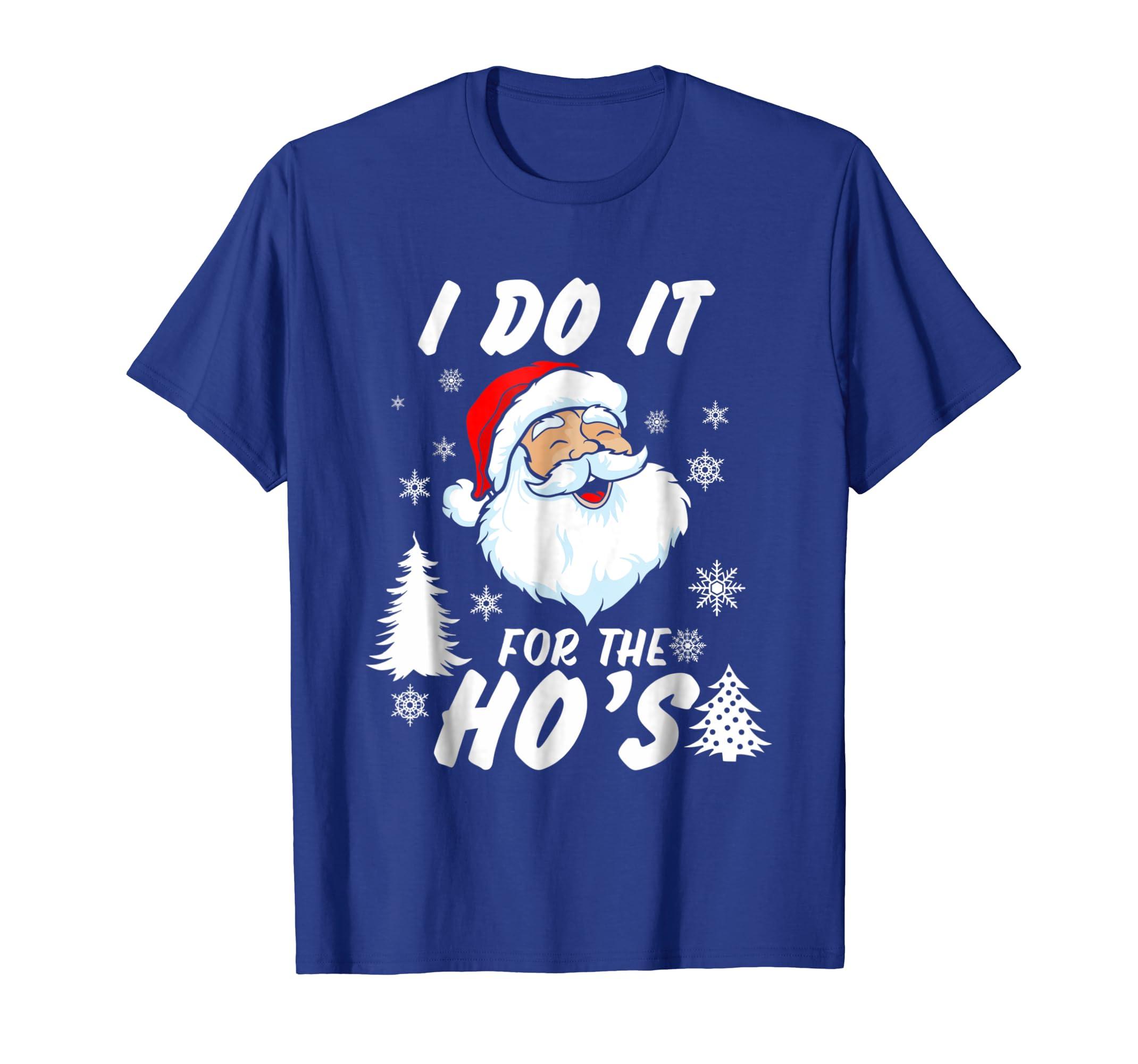 2df792825c Amazon.com: Funny Christmas Santa Ho Shirt Gift Cute Xmas Santa Naughty:  Clothing