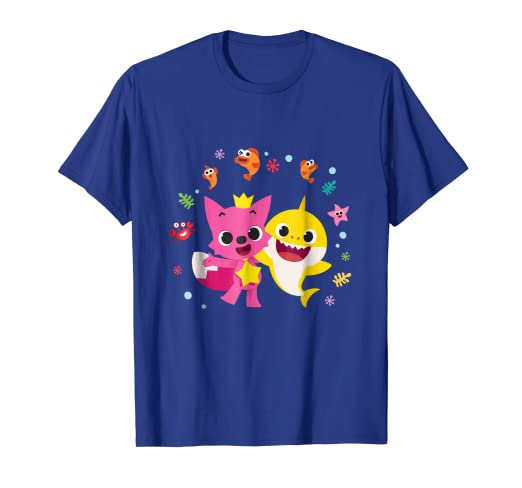 8abec022e Image Unavailable. Image not available for. Color: Pinkfong and Baby Shark T -shirt