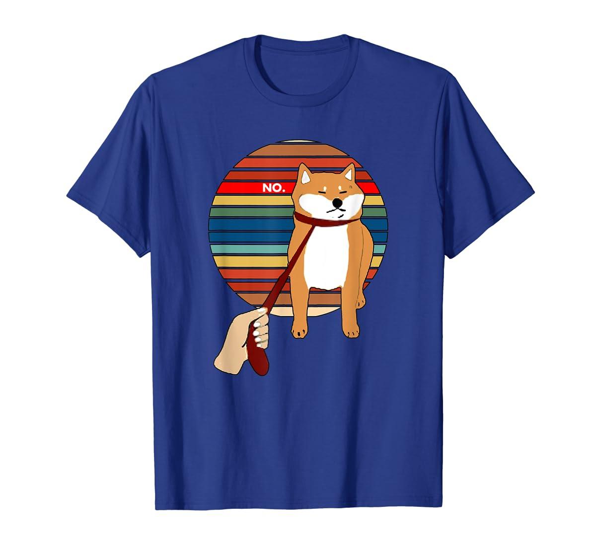 Cute Vintage Retro Shiba Inu Nope Dog Tee Shirt-Men's T-Shirt-Royal
