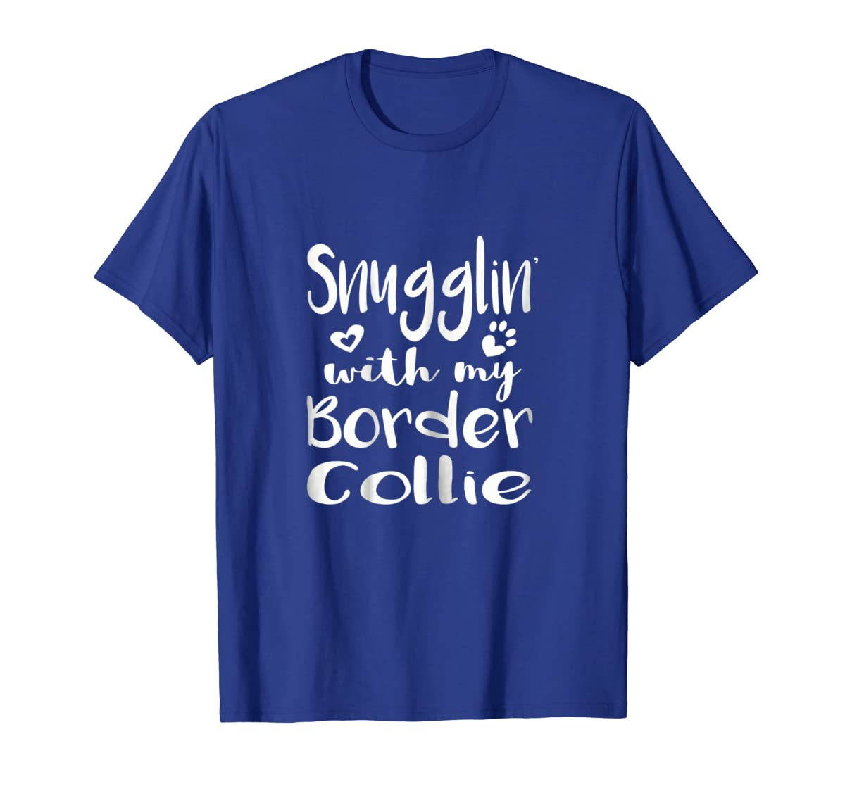 Snuggling with my Border Collie Shirt - Dog Mom pajamas-Men's T-Shirt-Royal