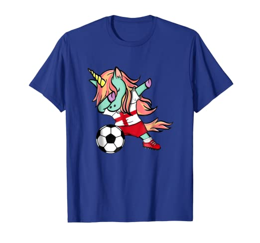ad7634b59b9 Image Unavailable. Image not available for. Color  Dabbing Unicorn Soccer  England Jersey Shirt ...