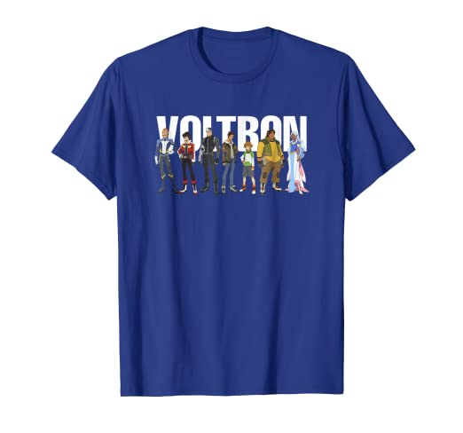 043352cdf Amazon.com: DreamWorks - Voltron Full Team T-Shirt: Clothing