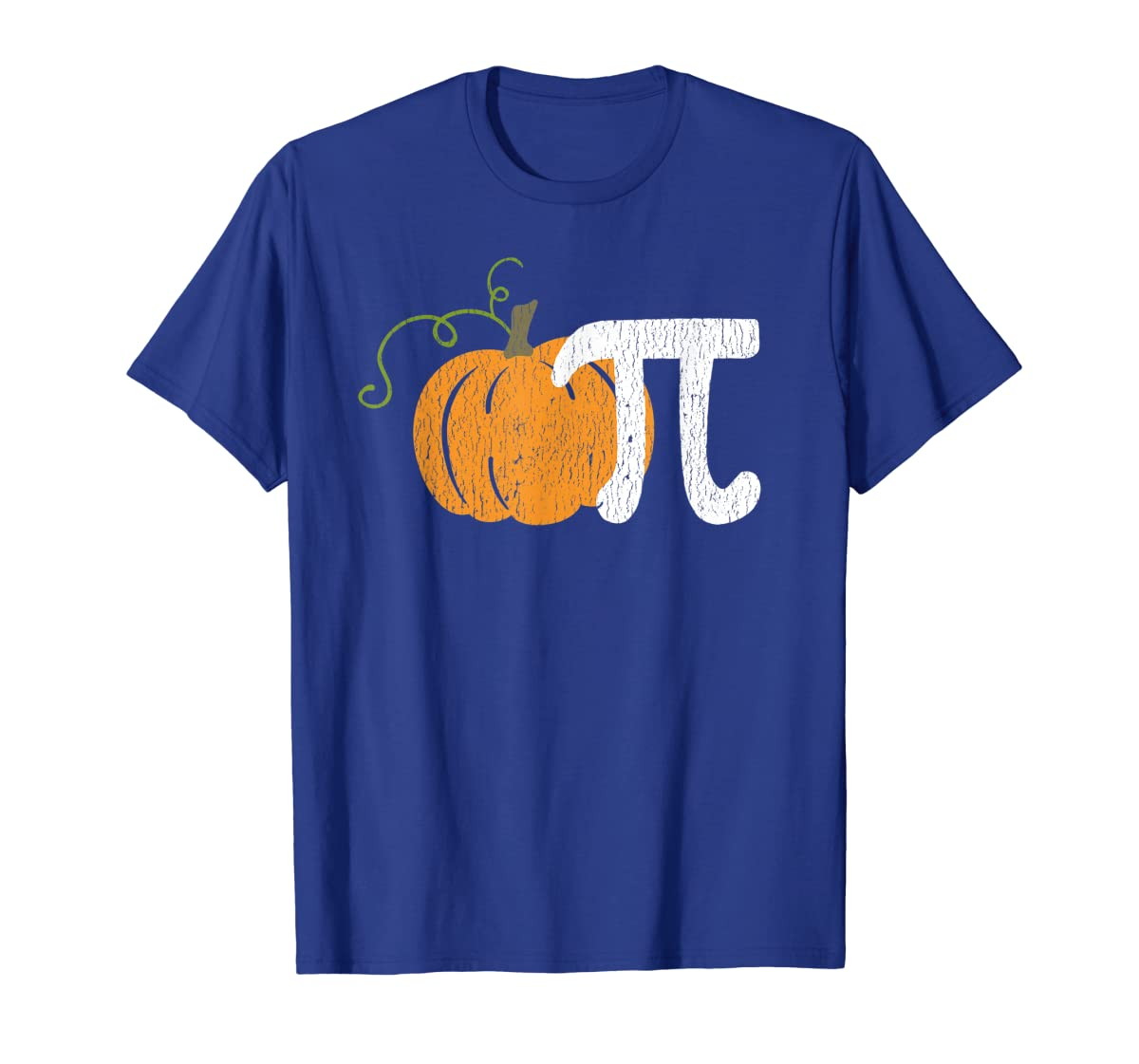 Funny Pumpkin Pie Math Teacher Halloween Pi Humor T-Shirt-Men's T-Shirt-Royal