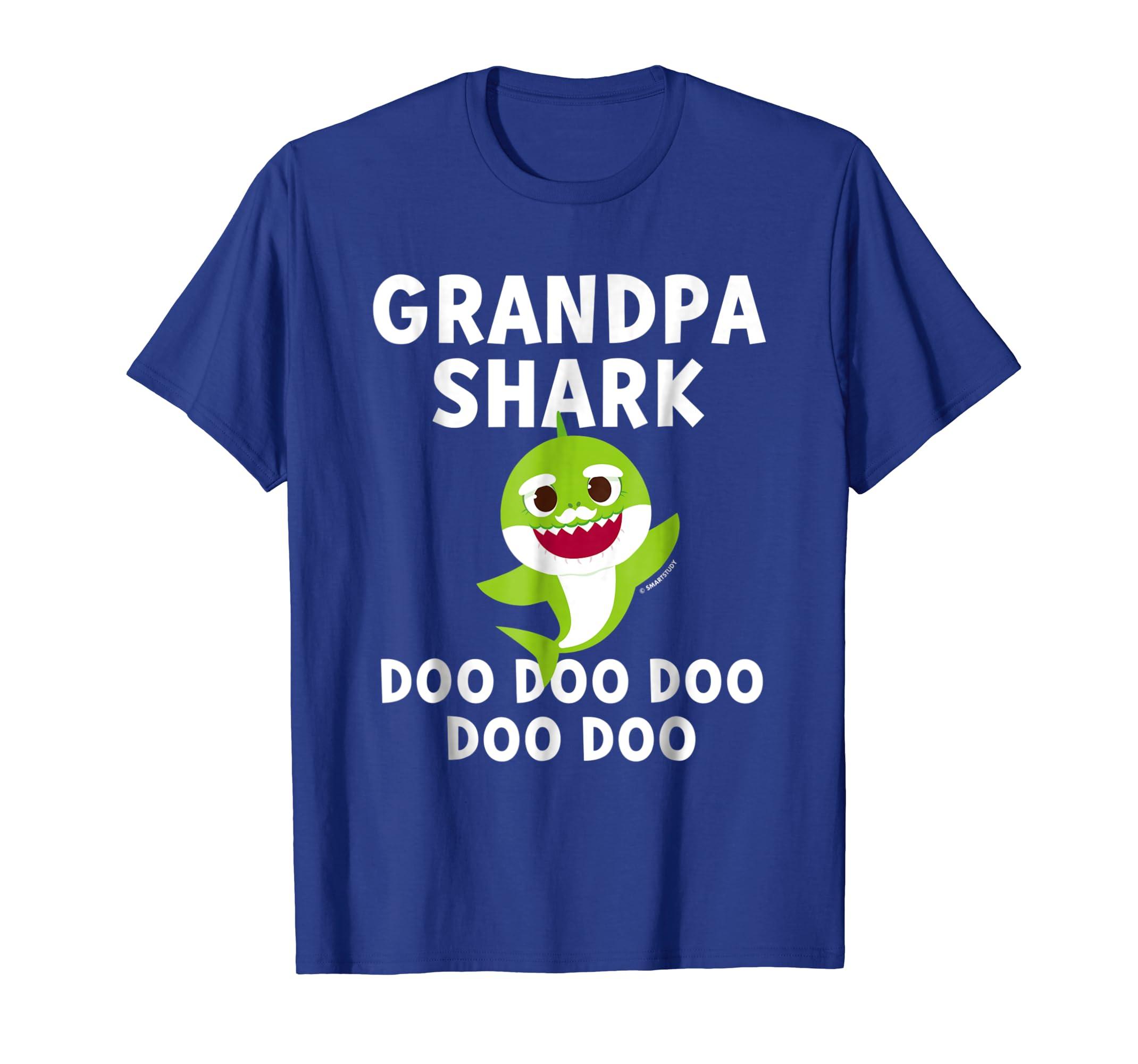 114d850108b8df Mens Pinkfong Grandpa Shark Official T-shirt
