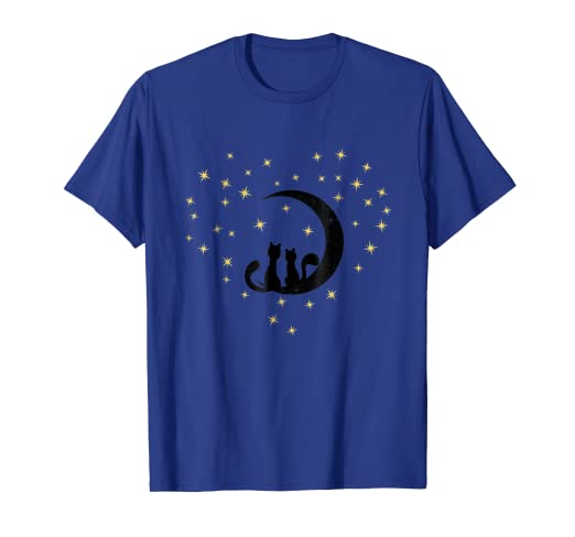 Image Unavailable. Image not available for. Color  Valentines Day TShirt  Cat Lover Gifts Moon Loving Kittens c1e448a52