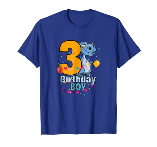 Image Unavailable Not Available For Color Happy Third 3rd Birthday Boy Dinosaur Lovers T Shirt
