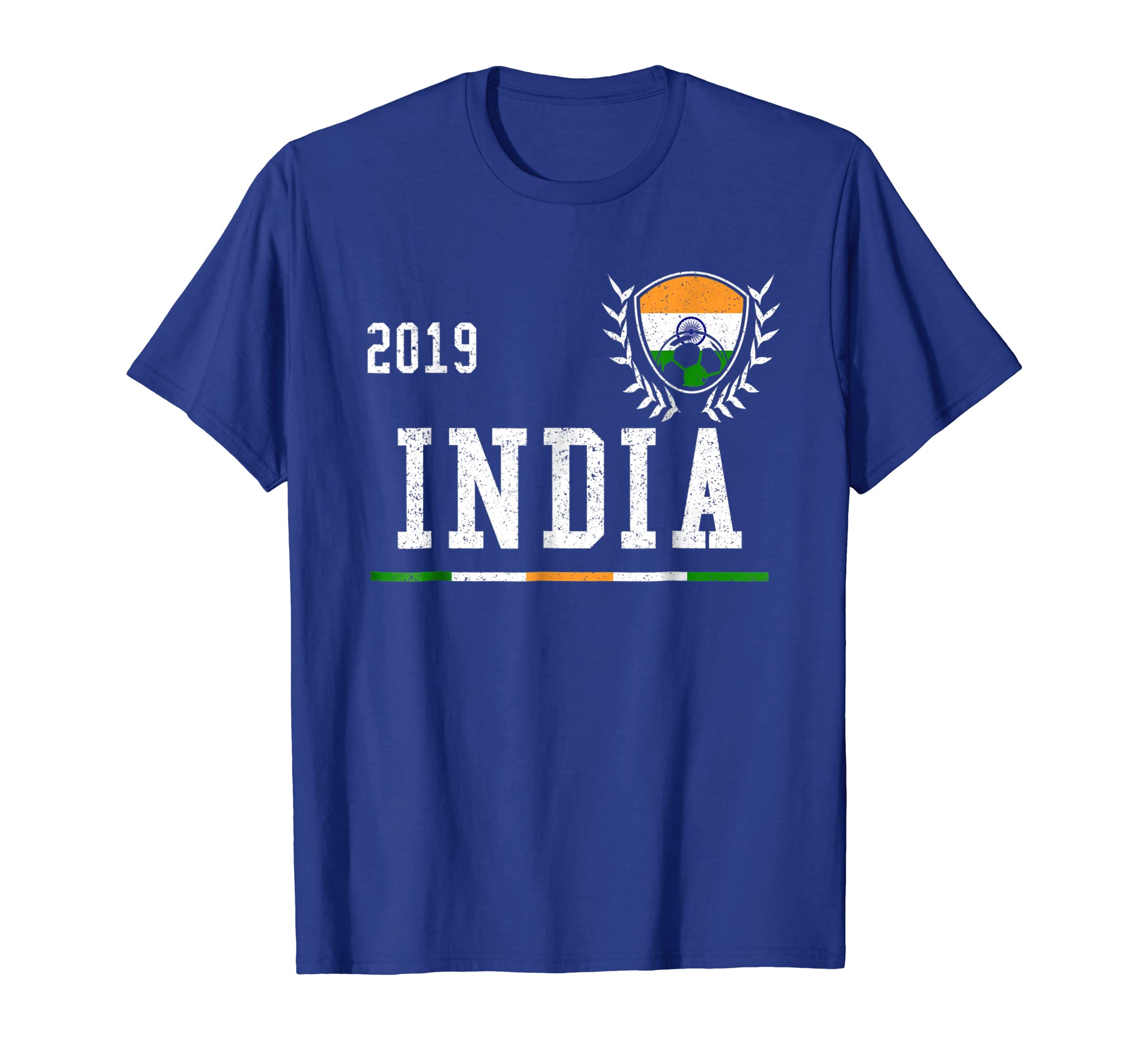 finest selection dae98 8d588 Amazon.com: India Football Jersey 2019 Indian Soccer T-shirt ...