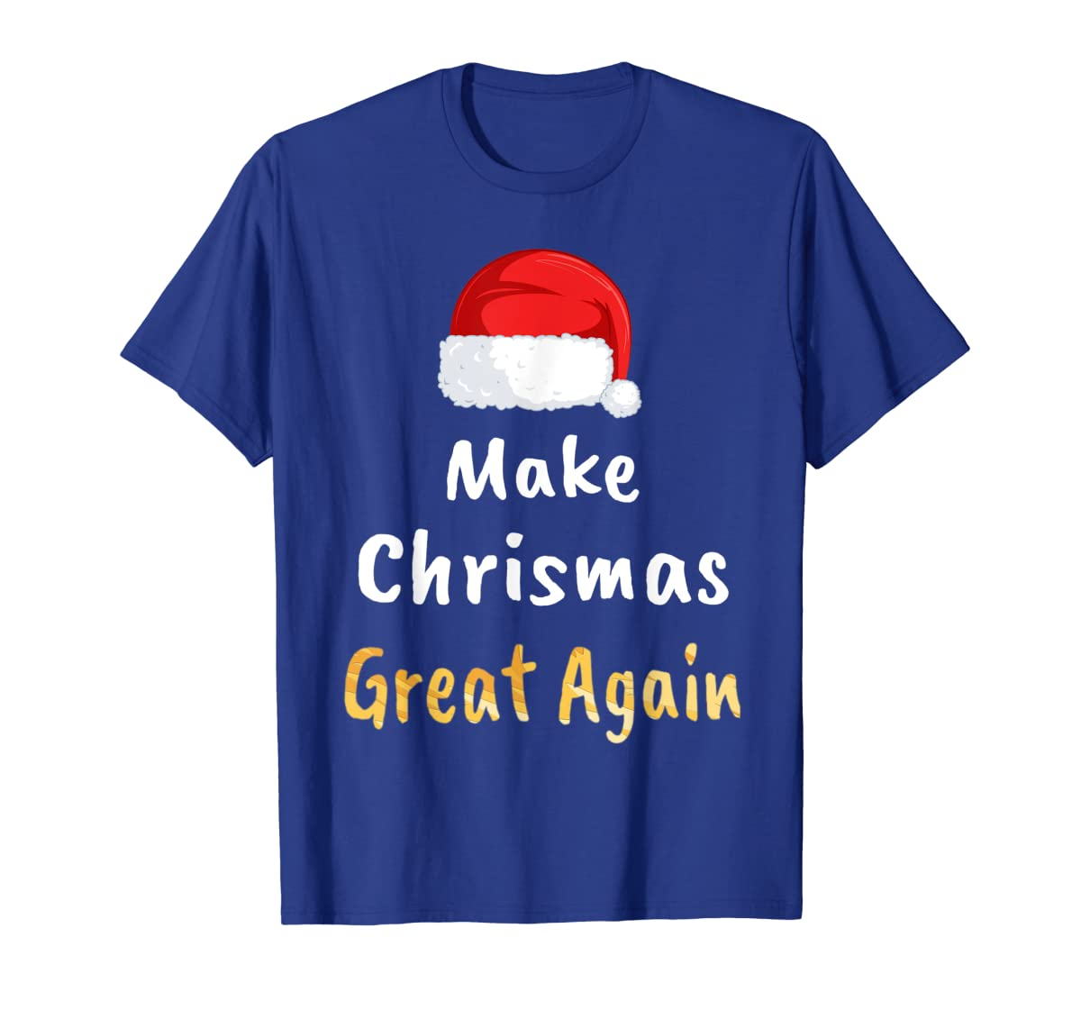 Awesome Make Christmas Great Again Trump Hat Xmas Gift T-Shirt-Men's T-Shirt-Royal