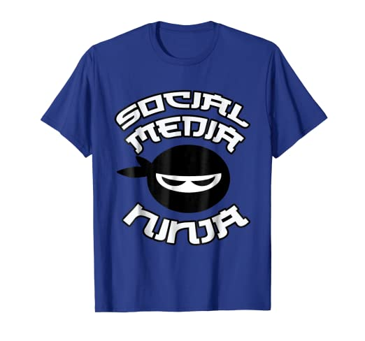 Amazon.com: Social Media Ninja, Funny Computer Nerd Cute T ...