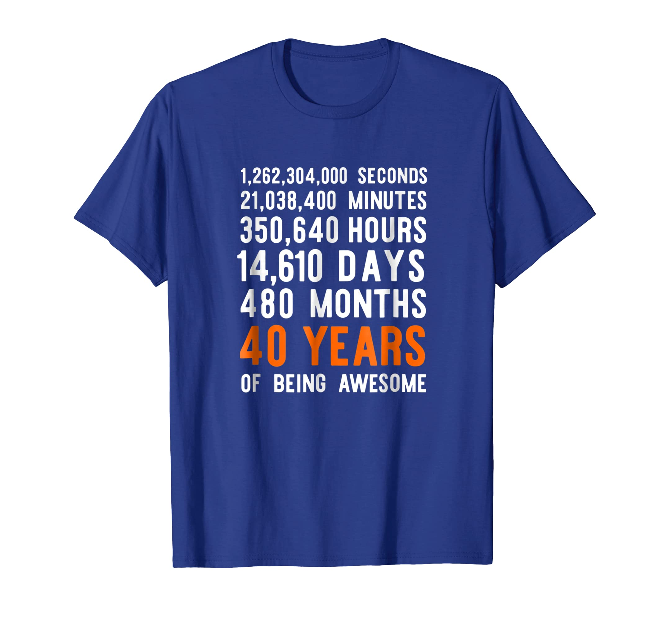 Amazon 40 Years Of Being Awesome Shirt Men Women 40th Birthday Gift Clothing
