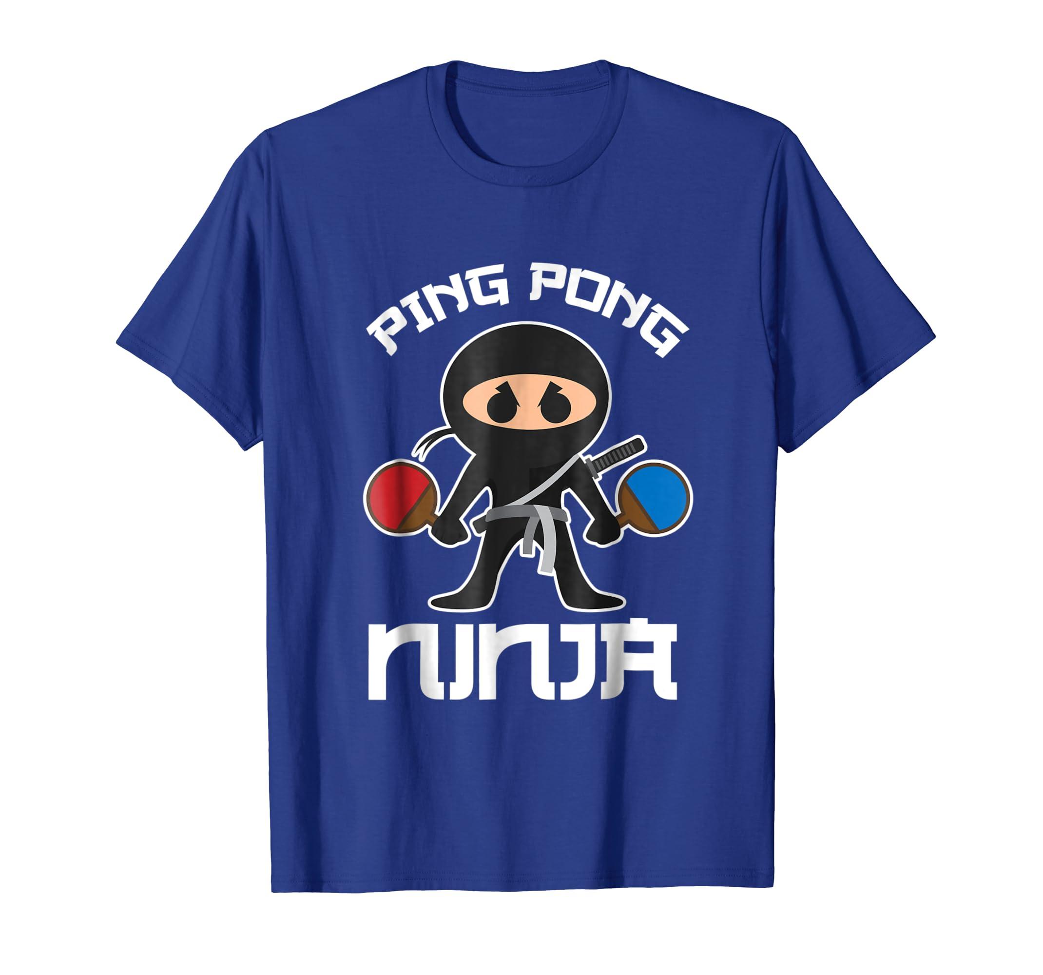 Amazon.com: Cool Ping Pong Ninja T-Shirt For Table Tennis ...