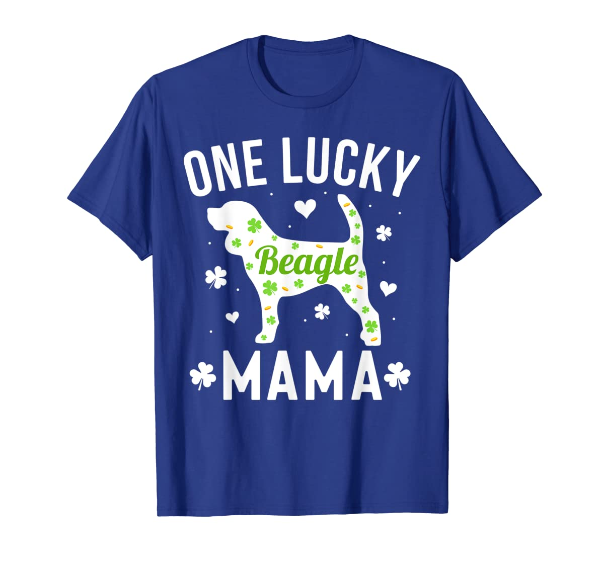 St Patricks Day Beagle Shirt Lucky Mama Mom Dog Gift Tee-Men's T-Shirt-Royal