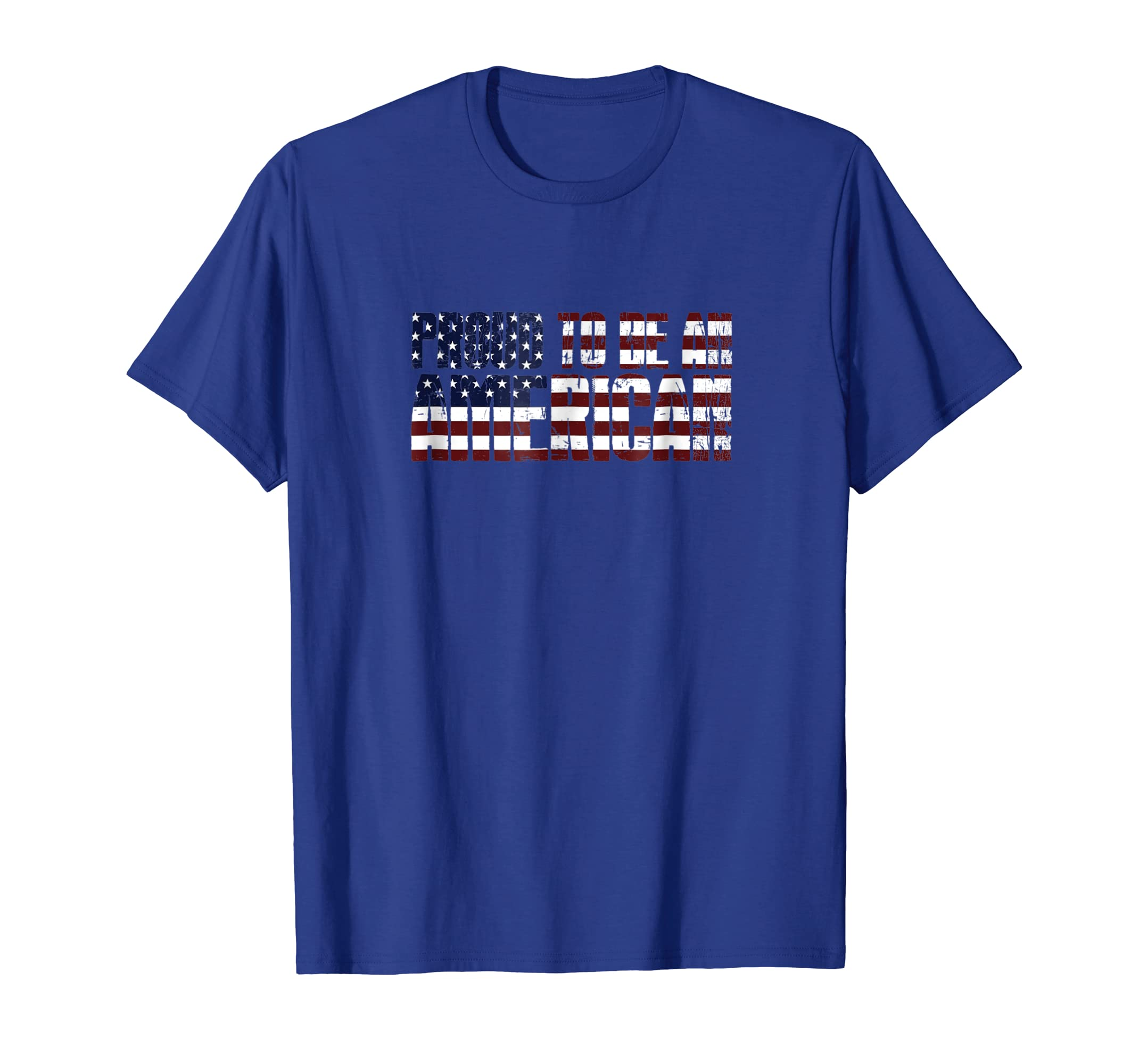 Veteran's Day T-Shirt PROUD TO BE AN AMERICAN Vintage Tee-SFL