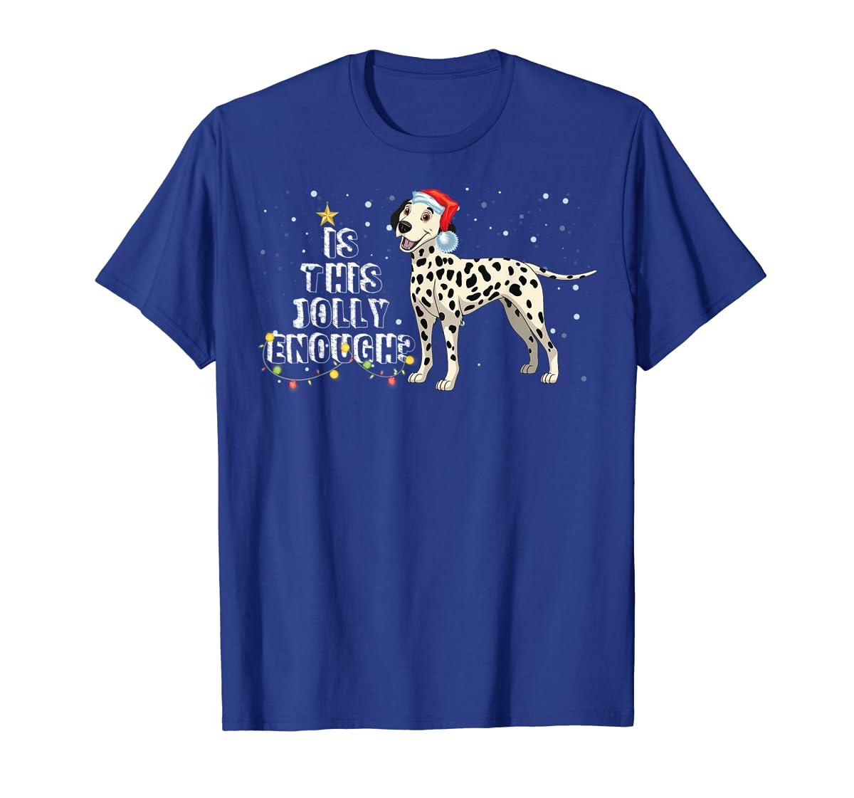 Dalmatian Santa Is This Jolly Enough Christmas Gifts T-Shirt-Men's T-Shirt-Royal