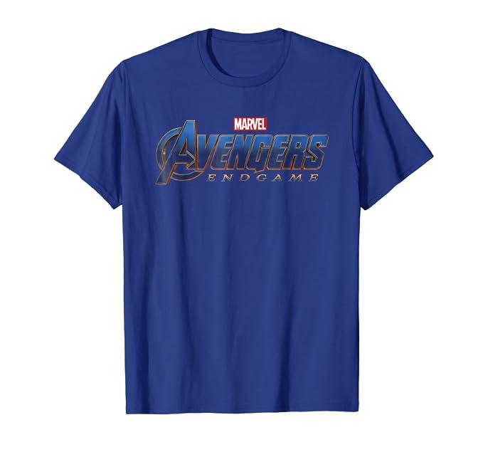 386e64a0 Amazon.com: Marvel Avengers Endgame Movie Logo Graphic T-Shirt: Clothing