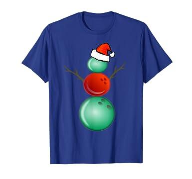 88591cd5e933 Amazon.com: Funny Christmas Shirts Bowling Snowman T-Shirt: Clothing