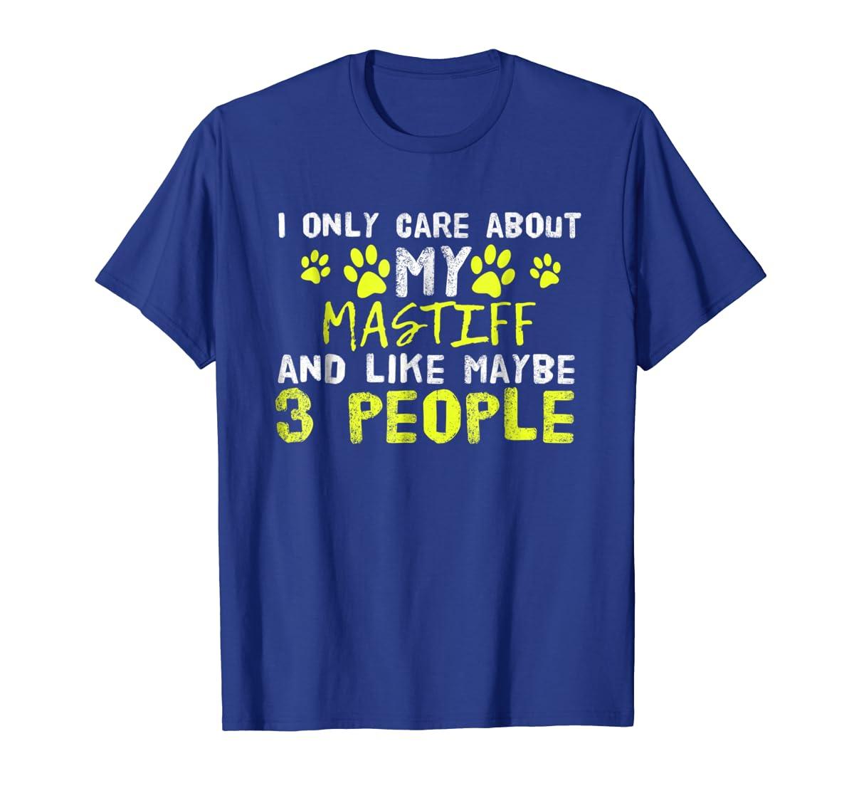 Mastiff Dog Shirt Introvert Love My Dog Tee-Men's T-Shirt-Royal