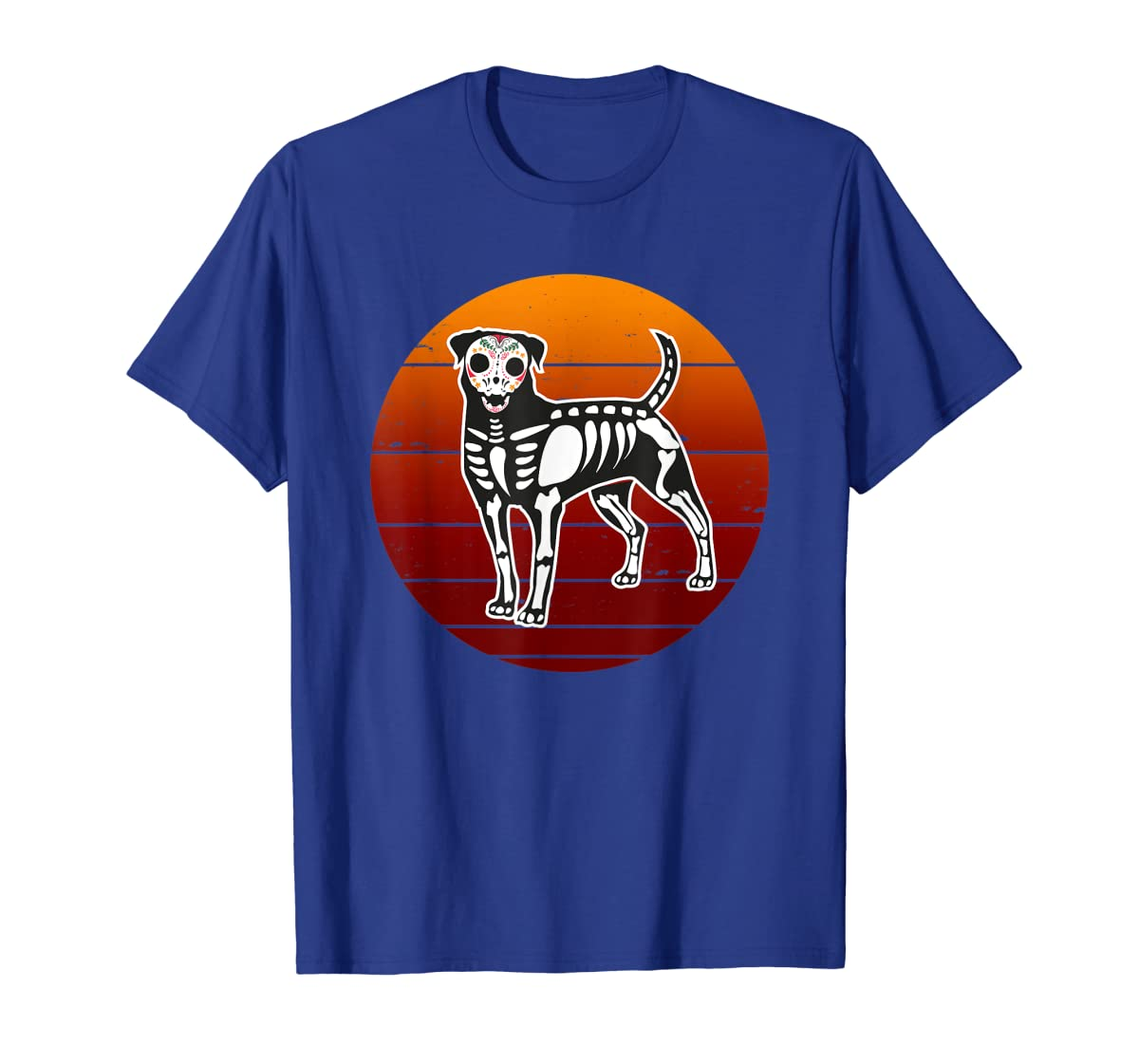 Rottweiler Skeleton Halloween T-Shirt-Men's T-Shirt-Royal