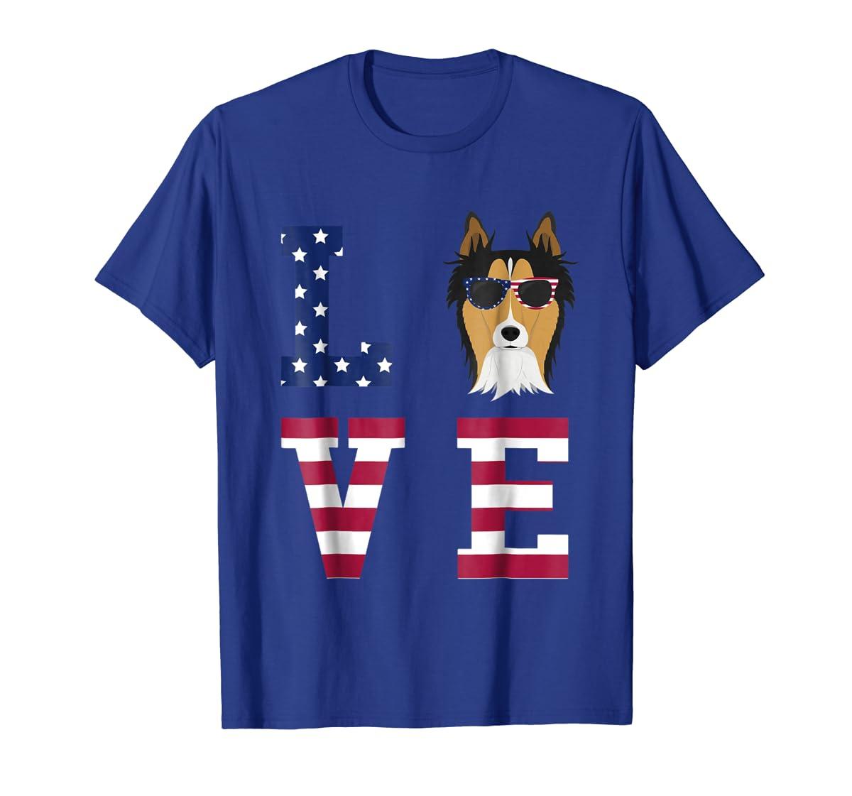 Collie Dog - 4th Of July T-Shirt-Men's T-Shirt-Royal