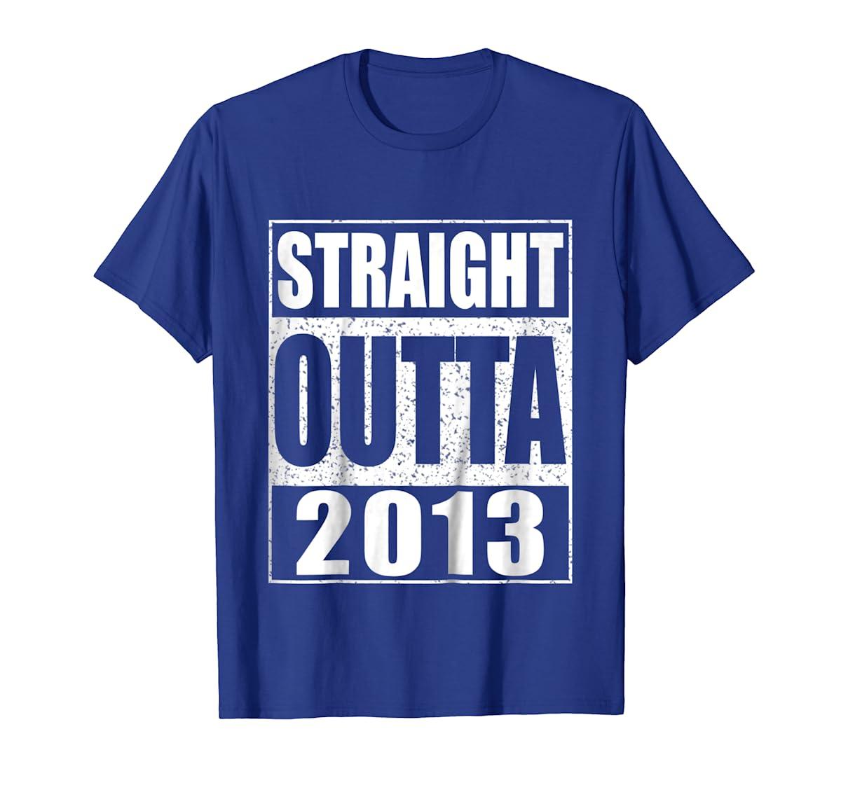 Kids Straight Outta 2013 T-Shirt 6th Birthday Gift Shirt-Men's T-Shirt-Royal