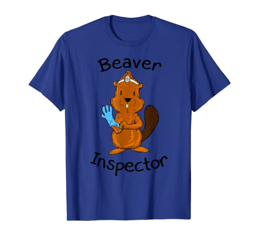 b2e92be9e Amazon.com: Inspector Beaver Tail Shirt Funny Tees For Men Beaver Shirt:  Clothing
