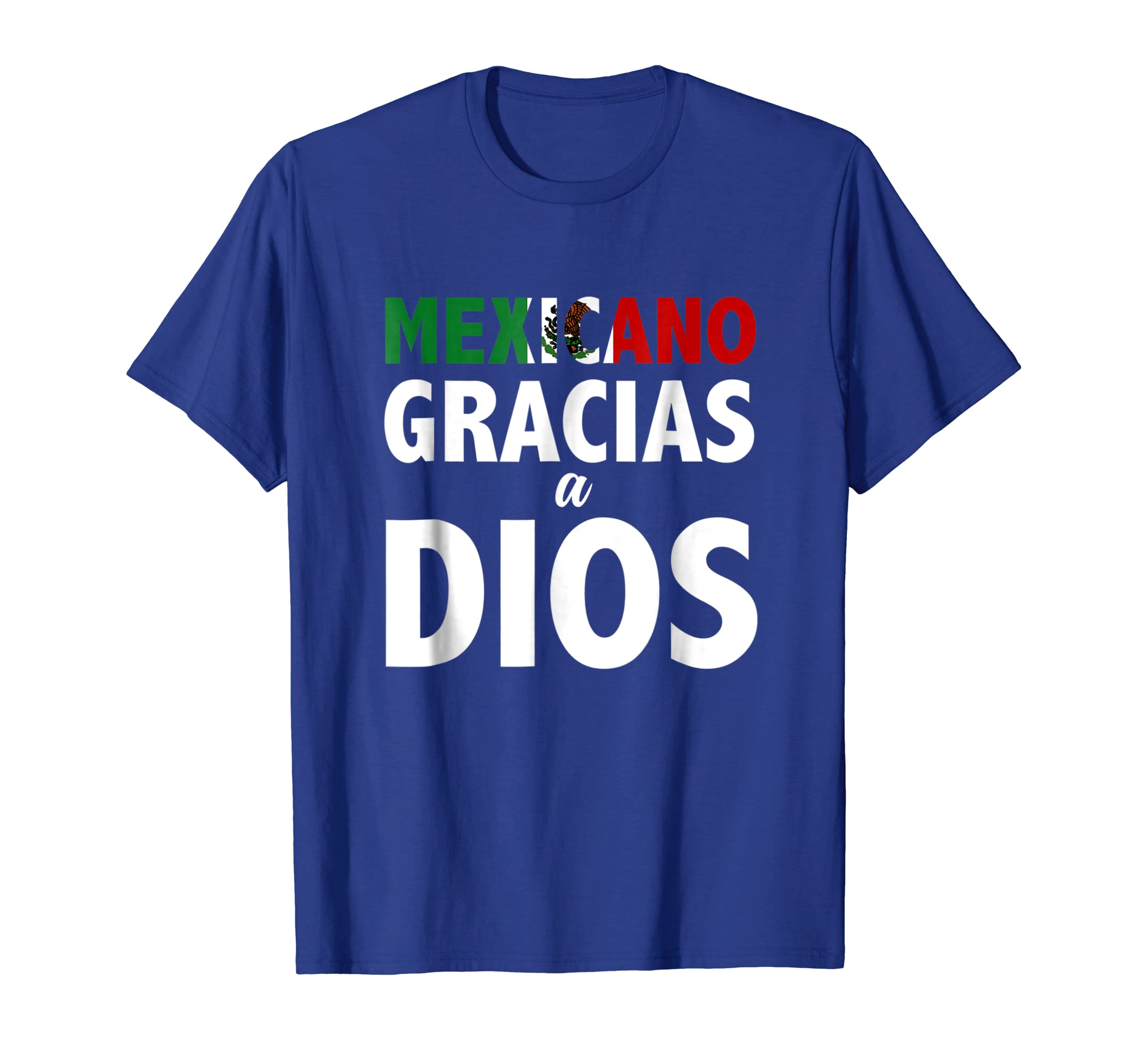 Amazon.com: Playeras Mexico Mexicano Gracias a Dios Camisetas Cristianas: Clothing