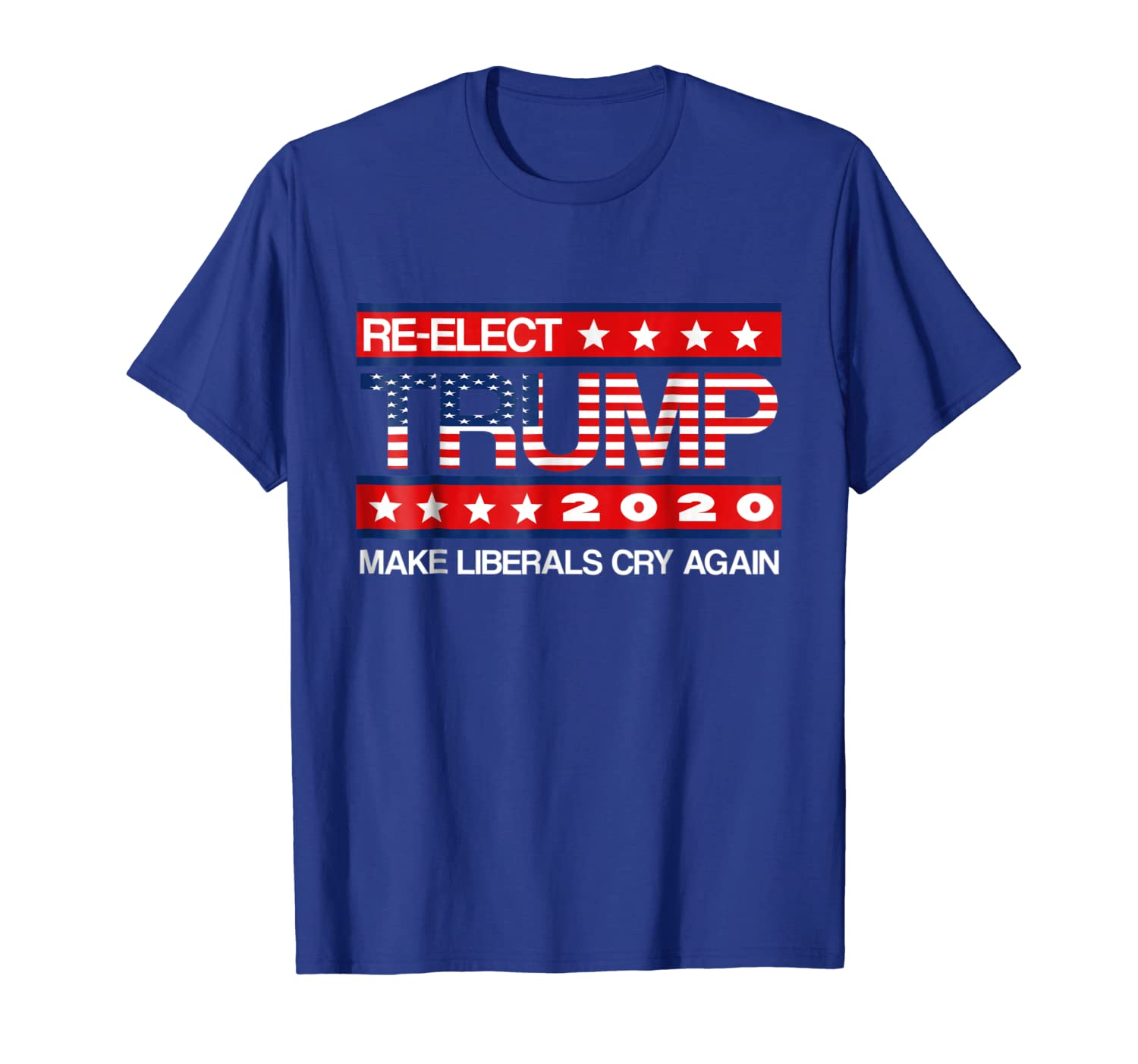 ec07aa435 Amazon.com: Donald Trump Election 2020 Make Liberals Cry Again GOP Shirt:  Clothing