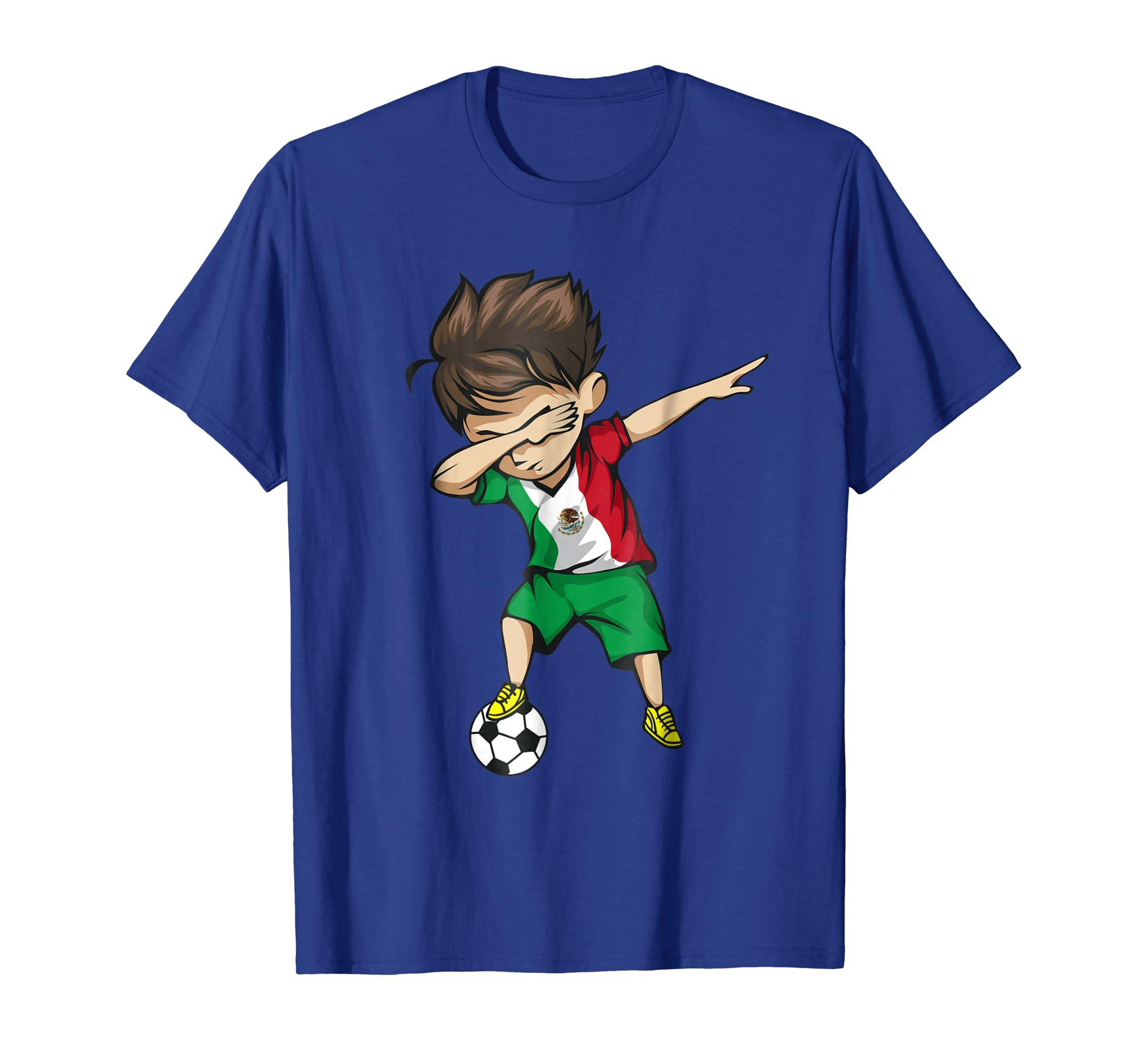 Dabbing Soccer Boy Mexico Jersey Shirt - Mexican Football-ln