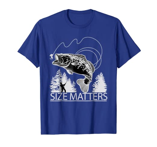 d7d4b041 Image Unavailable. Image not available for. Color: Size Matters Funny Trout Fishing  Shirt Funny Fish Tshirt