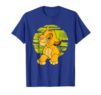 bbdb1275 Image Unavailable. Image not available for. Color: Disney The Lion King  Young Simba Paws Green 90s T-Shirt