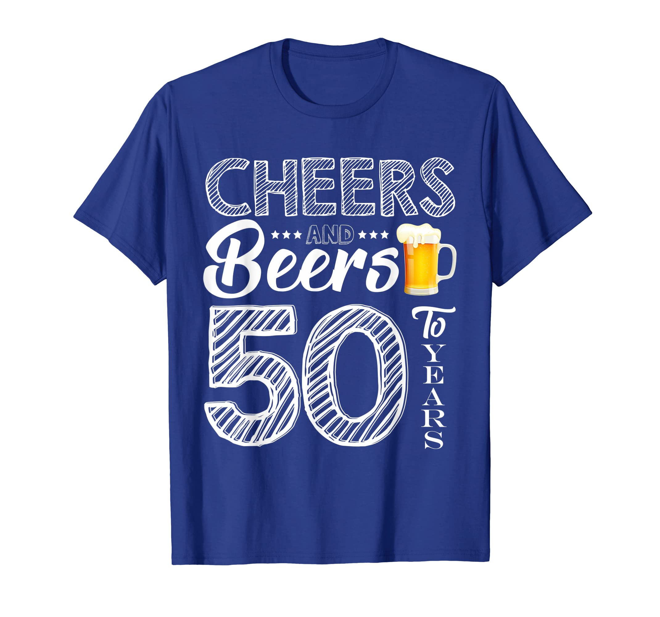 df3a48526843a Amazon.com: Funny 50th Birthday Gift Cheers and Beers to 50 Years ...