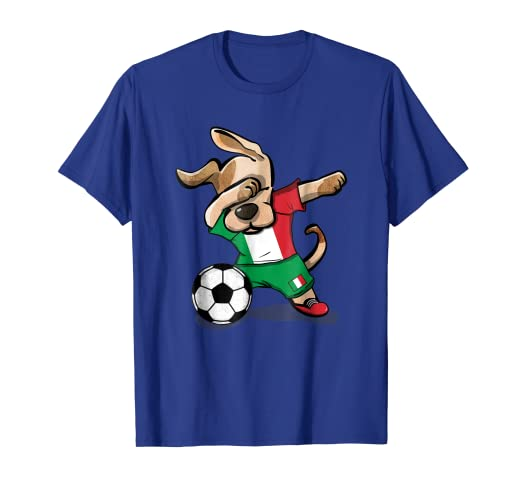 Image Unavailable. Image not available for. Color  Dog Dabbing Soccer Italy  Jersey Shirt ... 55bfc5b46a