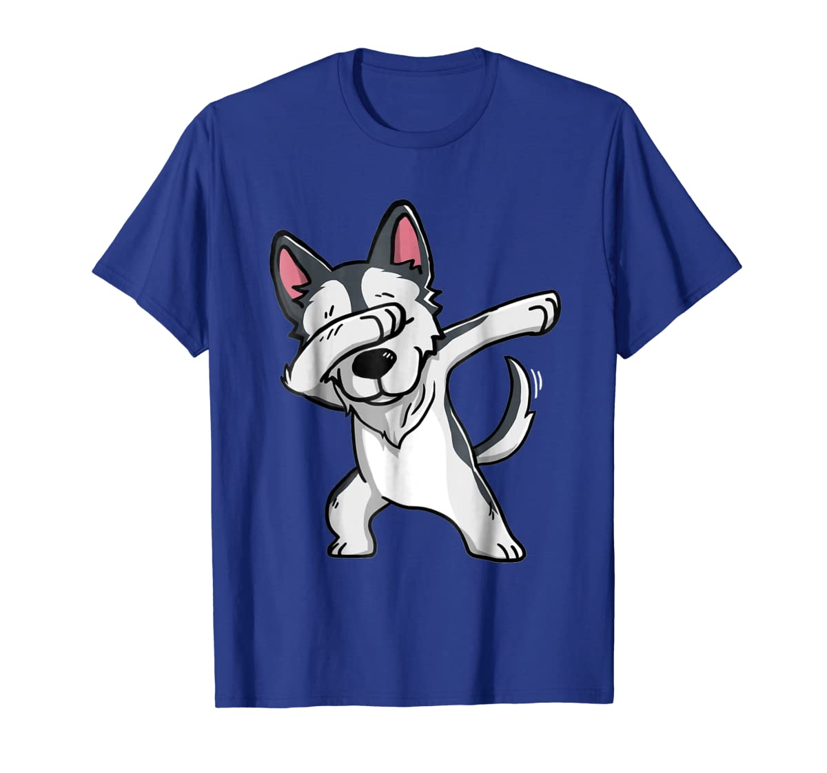 Dabbing Siberian Husky T-Shirt Husky Kids Costume-Men's T-Shirt-Royal