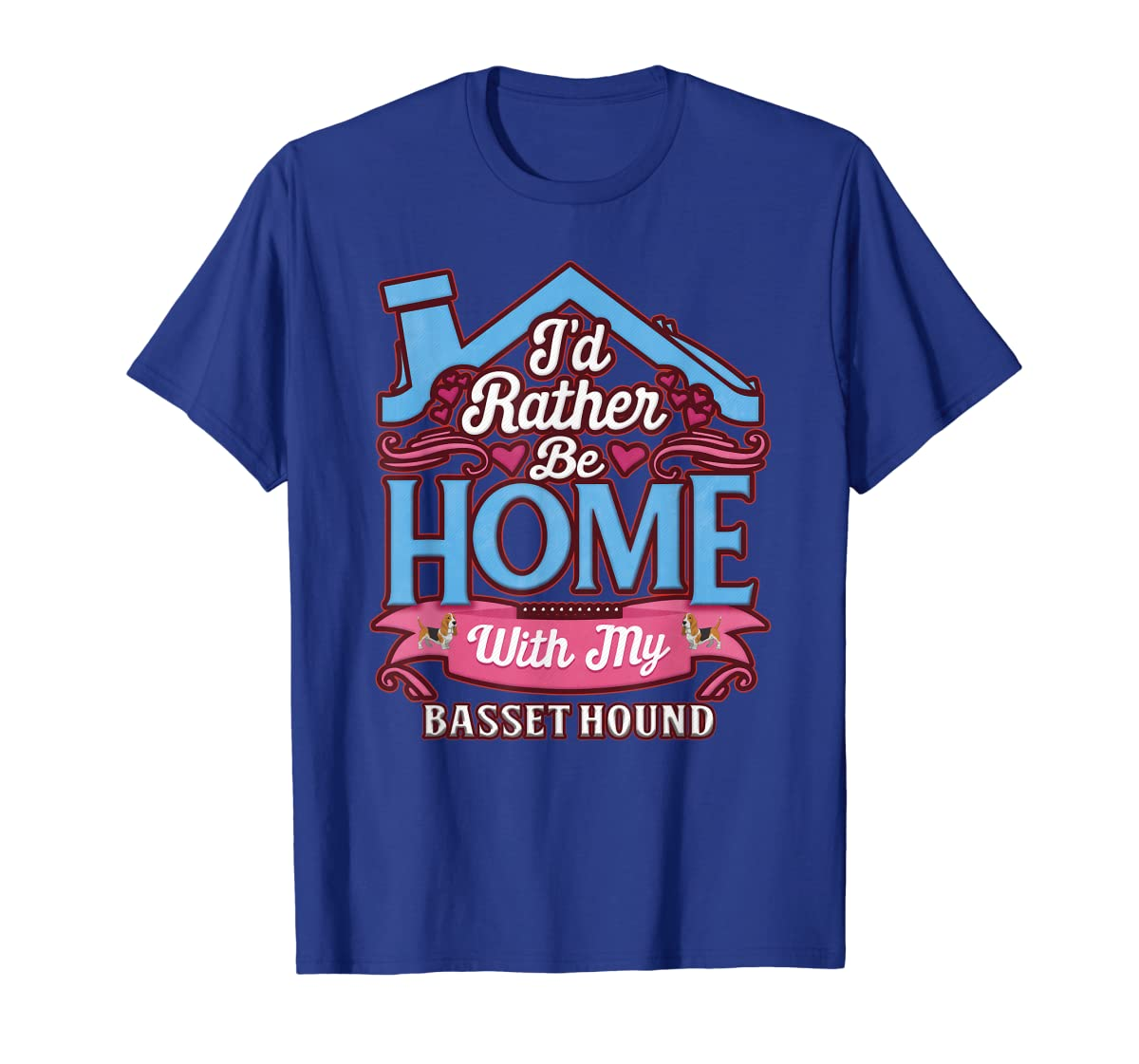 Basset Hound Home Dog T Shirt-Men's T-Shirt-Royal