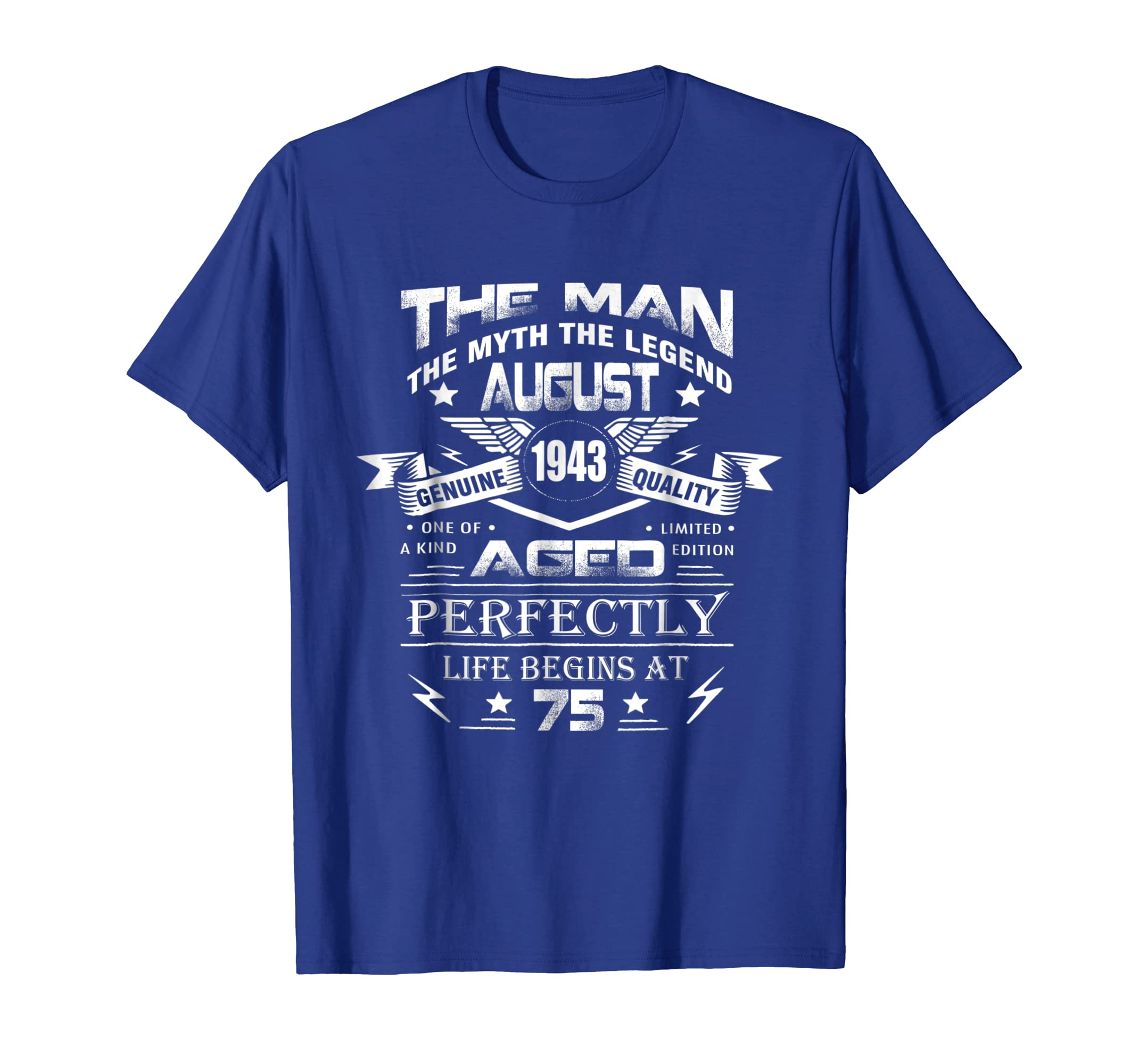 August 1943 Shirt 75th Birthday Gift Idea For Men And Women