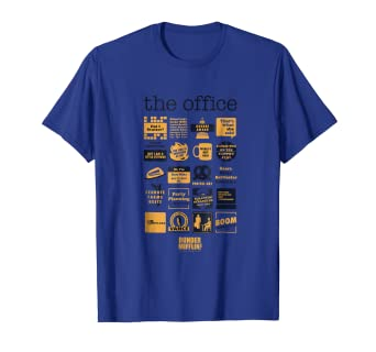 746718e59 Amazon.com: The Office Quote Mash-Up Funny T-Shirt - Official Tee ...